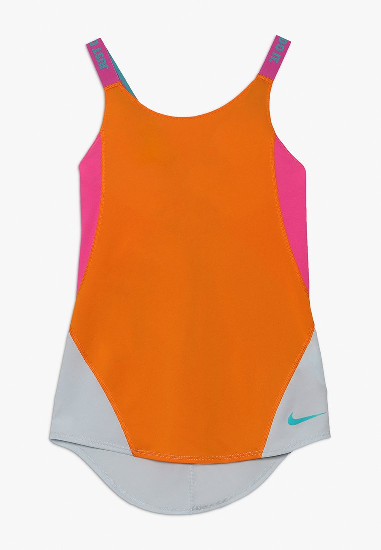 Nike Performance - DRY TANK - Sports shirt - orange peel/laser fuchsia/pure platinum
