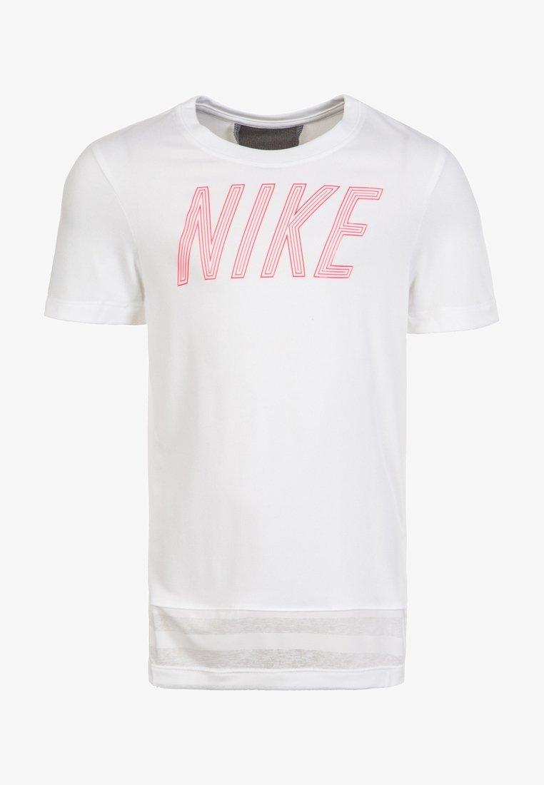 Nike Performance - DRY - T-Shirt print - white/red/grey