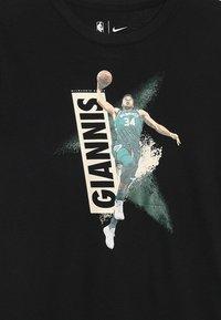 Nike Performance - NBA GIANNIS ANTETOKOUNMPO MEZZO TEE - Camiseta estampada - black - 4