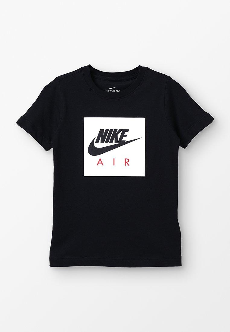 Nike Performance - AIR BOX - T-shirt med print - black/university red