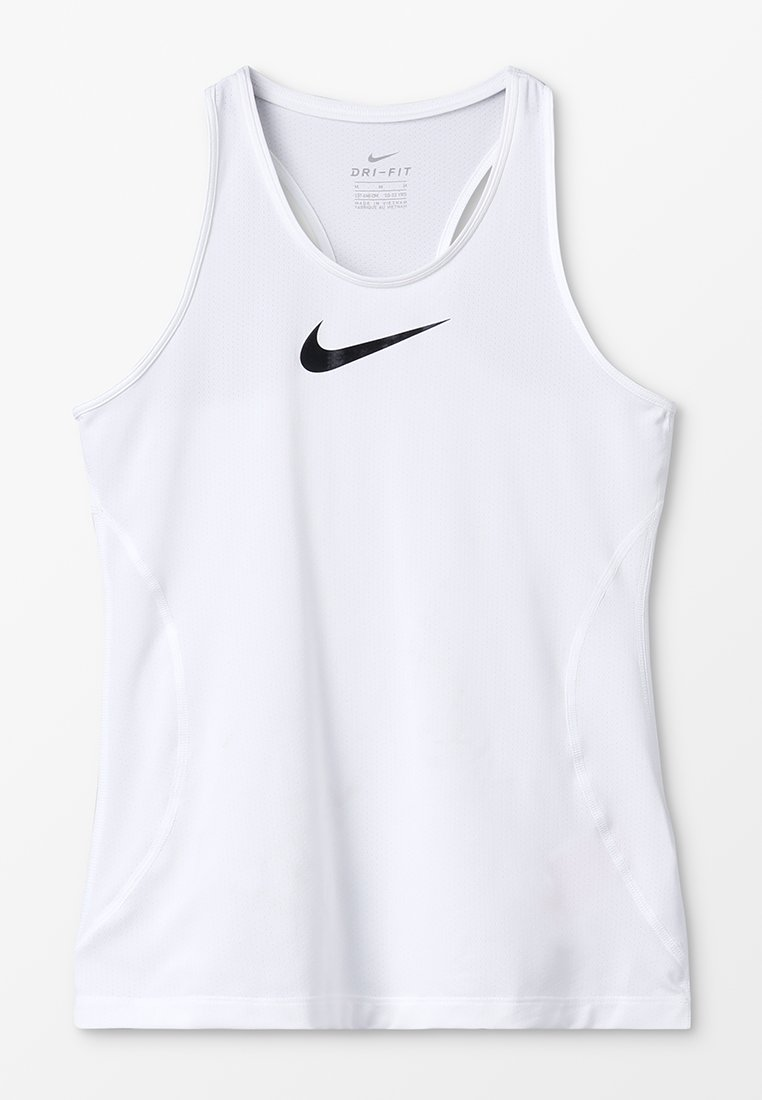 Nike Performance - TANK - T-shirt sportiva - white/black
