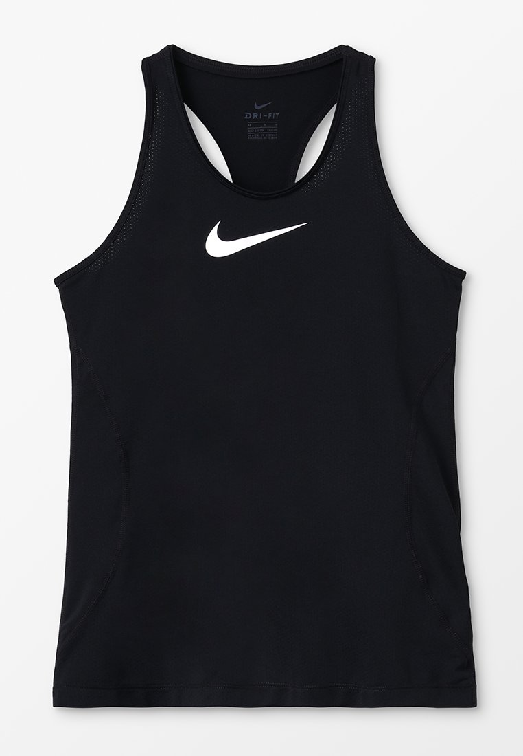 Nike Performance - TANK - Sportshirt - black/white