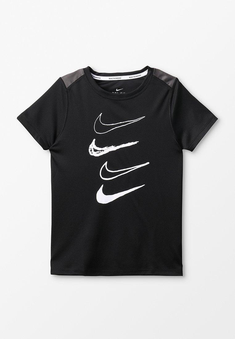 Nike Performance - T-shirts print - black/thunder grey/white