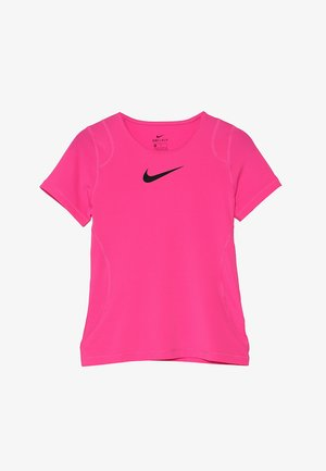 Basic T-shirt - vivid pink/black