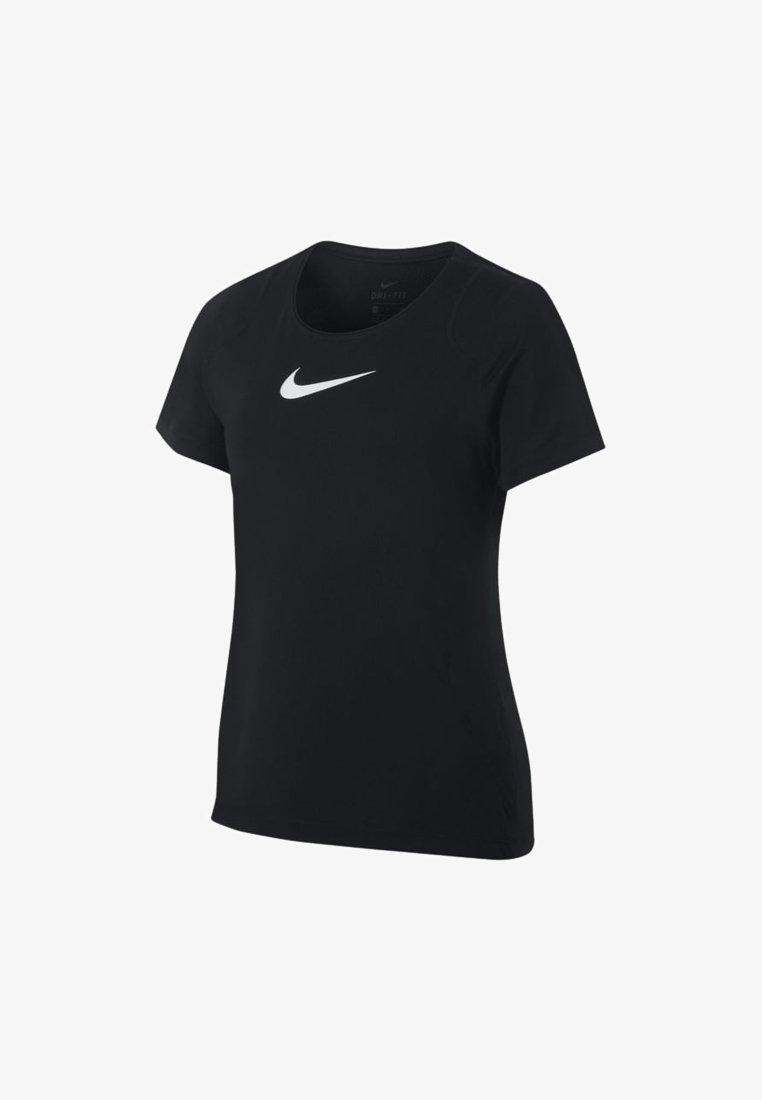 Nike Performance - Basic T-shirt - black/white