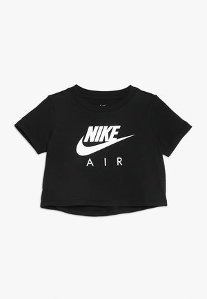 TEE AIR CROP - Camiseta estampada - black