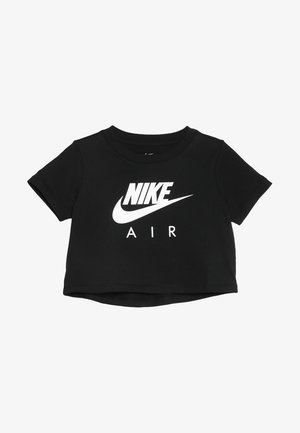 TEE AIR CROP - Print T-shirt - black