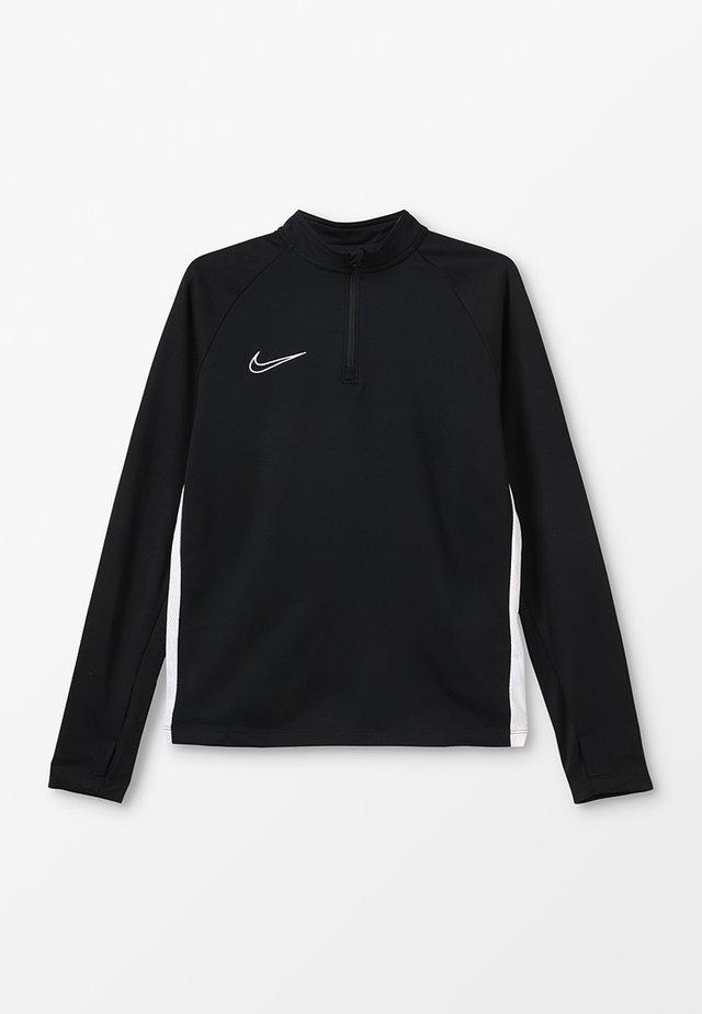 DRY ACADEMY DRIL - Fleece jumper - black/white