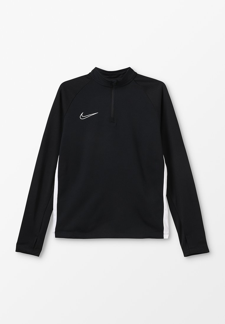 Nike Performance - DRY ACADEMY DRILL TOP - Sports shirt - black/white