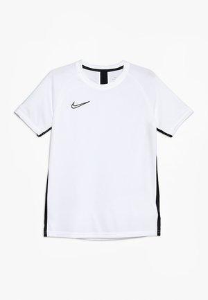 DRY ACADEMY - T-shirt sportiva - white/black
