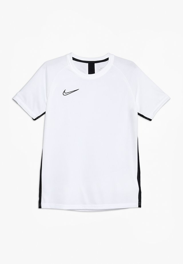 DRY ACADEMY - Sports shirt - white/black