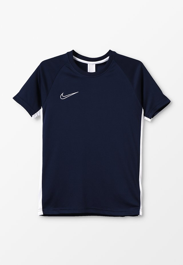 DRY ACADEMY - Sports shirt - obsidian/white
