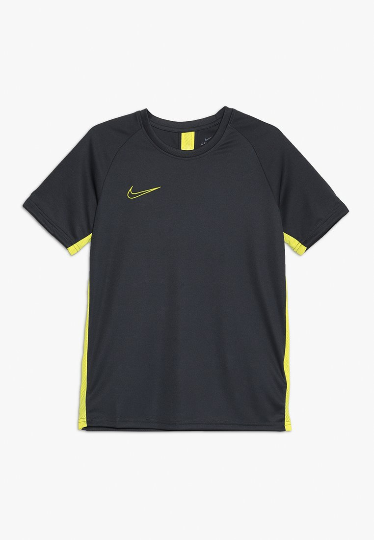 Nike Performance - DRY - T-shirt med print - anthracite/optic yellow