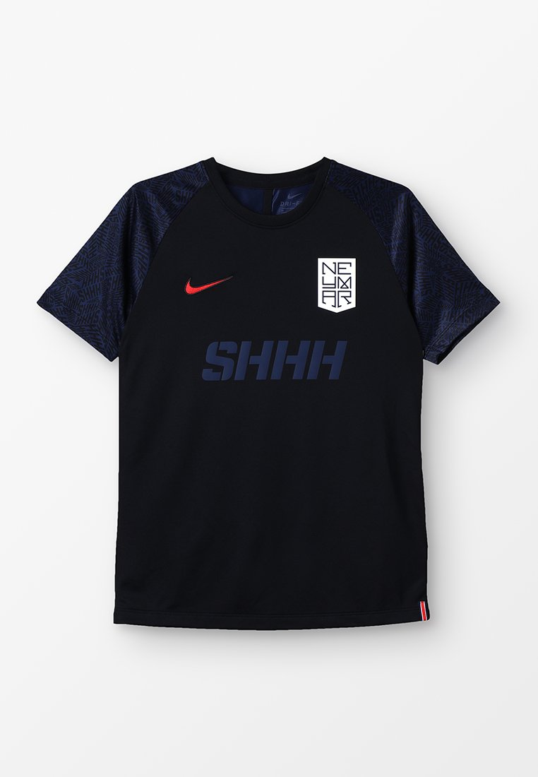Nike Performance - DRY - T-Shirt print - black/challenge red