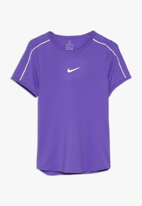 Nike Performance - GIRLS DRY - Print T-shirt - psychic purple/white - 0