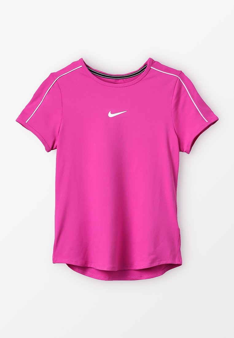 Nike Performance - GIRLS DRY - T-Shirt print - active fuchsia/white