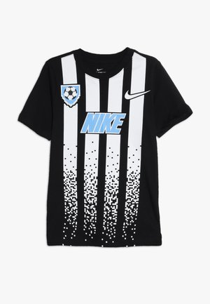 TEE SOCCER  - T-shirt con stampa - black/white