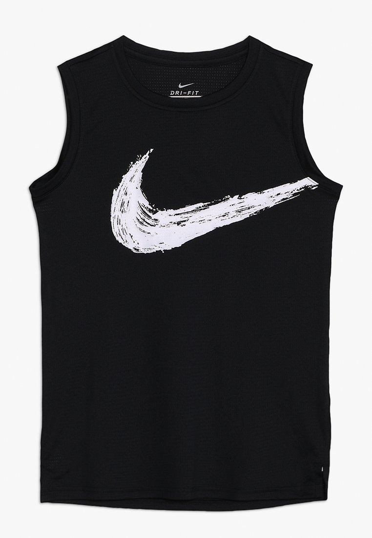 Nike Performance - DRY  - Sports shirt - black/white