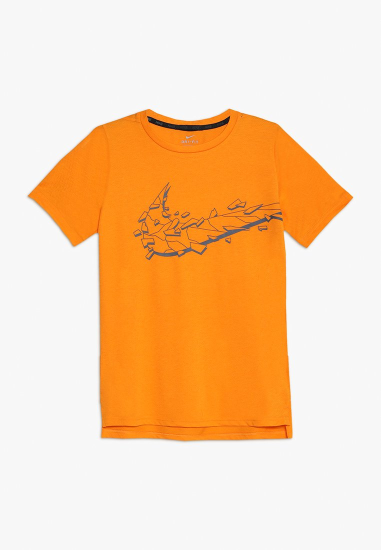 Nike Performance - HYPER DRY - T-shirt imprimé - orange peel/dark grey