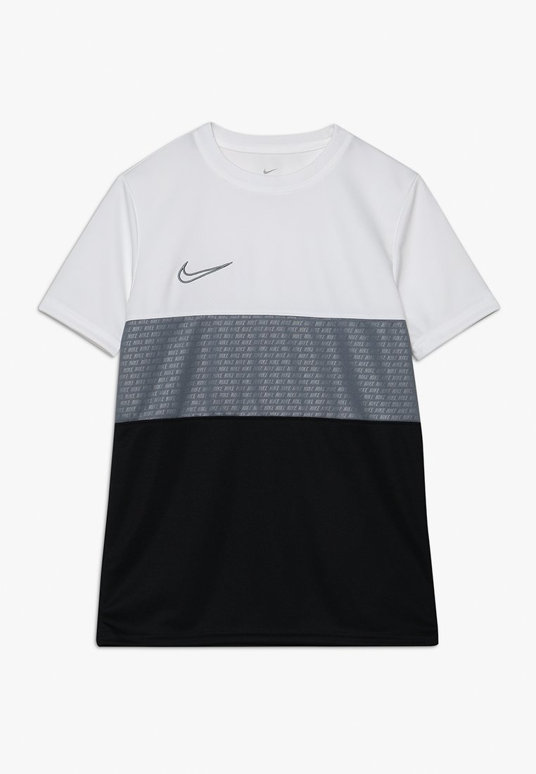 Nike Performance - DRY ACADEMY TOP  - Print T-shirt - white/cool grey/cool grey