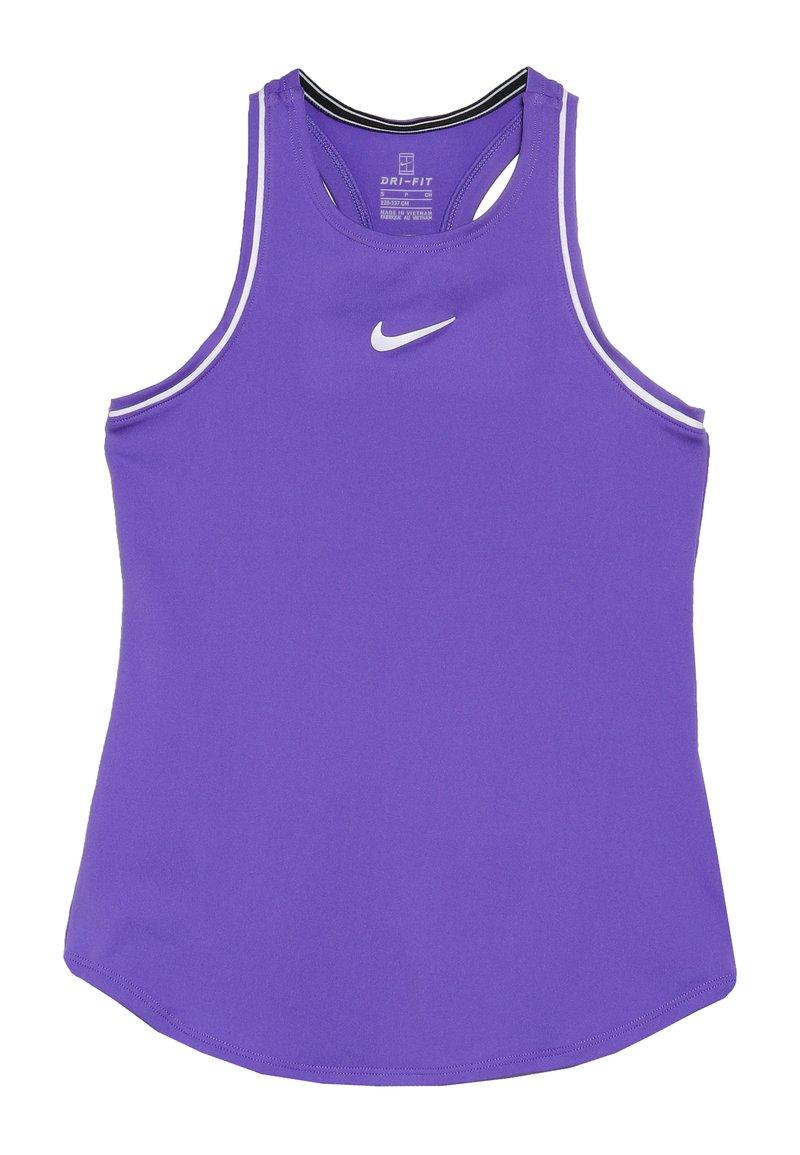 Nike Performance - GIRLS DRY TANK - Funktionströja - psychic purple/white