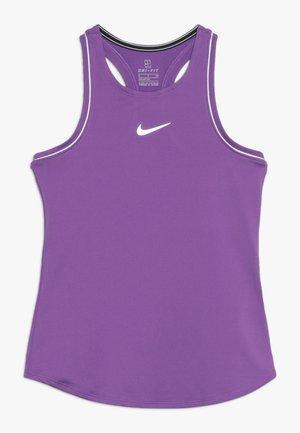 GIRLS DRY TANK - Sports shirt - purple/white