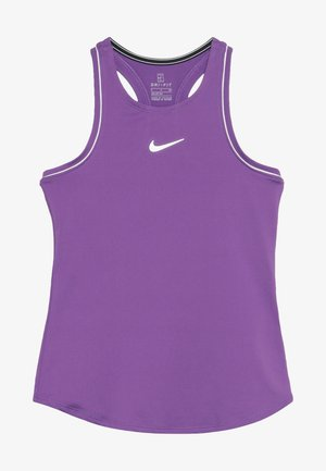 GIRLS DRY TANK - Funkční triko - purple/white