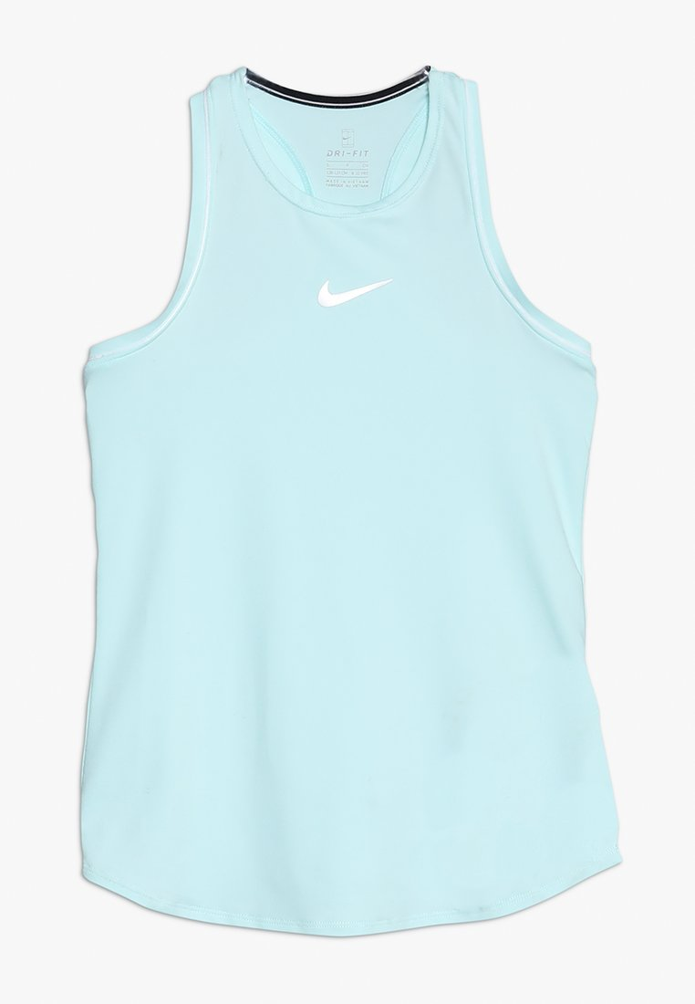 Nike Performance - GIRLS DRY TANK - Funktionsshirt - teal tint/white