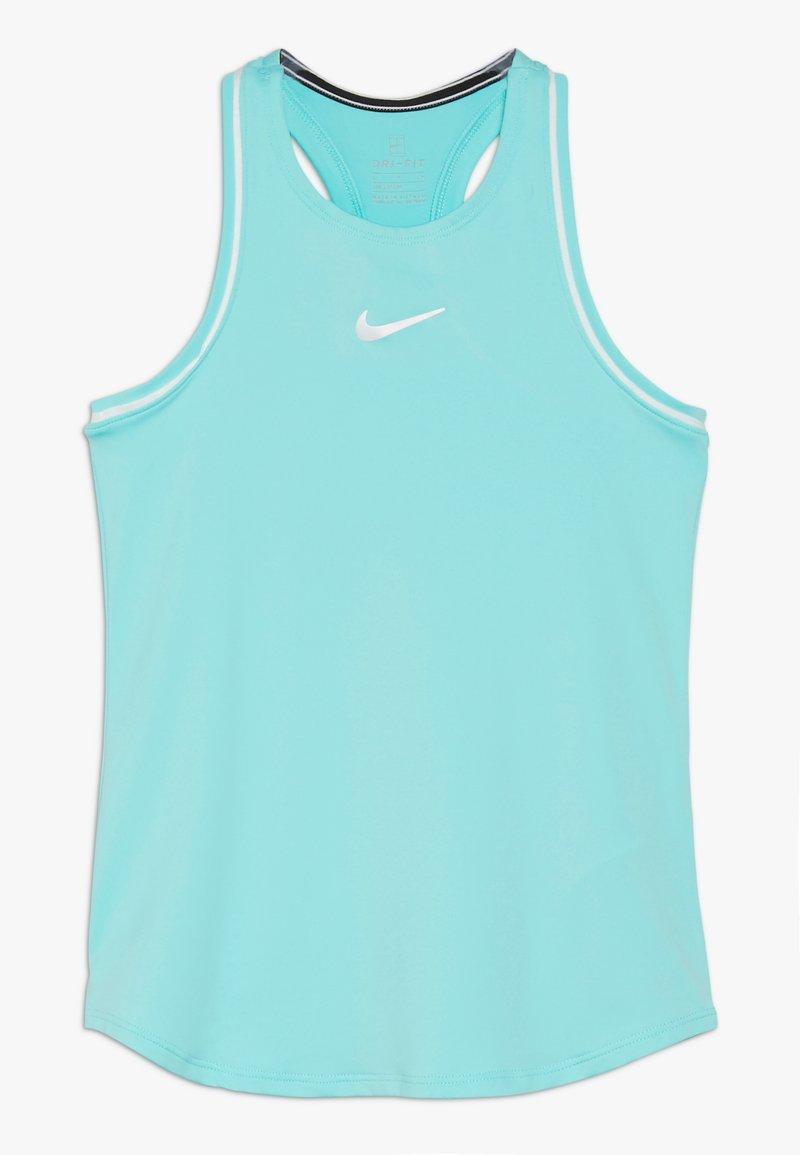 Nike Performance - GIRLS DRY TANK - Funktionsshirt - light aqua/white
