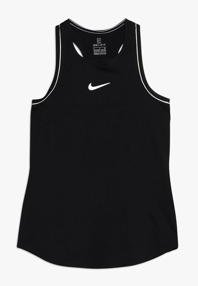 GIRLS DRY TANK - Sports shirt - black/white