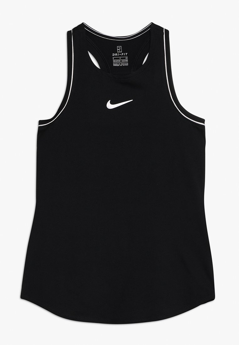 Nike Performance - GIRLS DRY TANK - Sports shirt - black/white