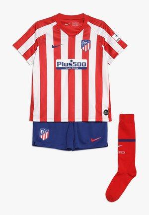 ATLETICO MADRID SET - Pantalón corto de deporte - red/white/deep royal blue