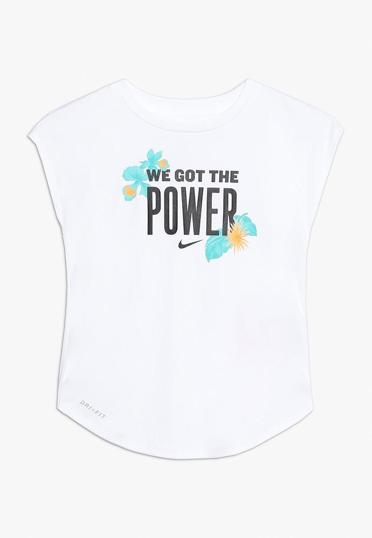 Nike Performance - WE GOT THE POWER MODERN TEE - T-Shirt print - white