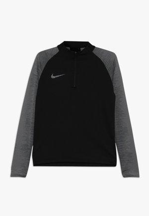 DRY DRIL - Sports shirt - black/black/wolf grey/anthracite