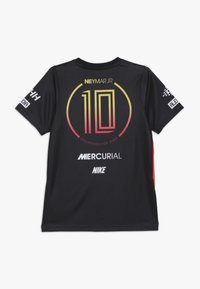 Nike Performance - NEYMAR DRY - Print T-shirt - black/laser crimson - 1