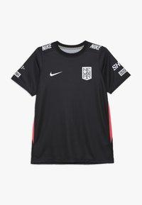 Nike Performance - NEYMAR DRY - Print T-shirt - black/laser crimson - 0