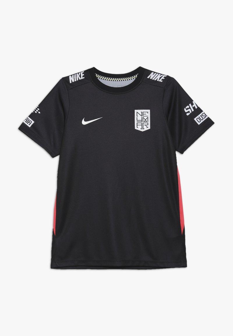 Nike Performance - NEYMAR DRY - Print T-shirt - black/laser crimson