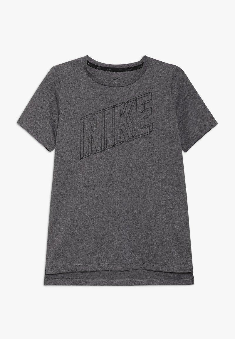 Nike Performance - BREATHE TOP - T-Shirt print - gunsmoke/heather/black