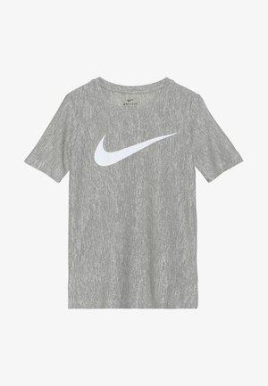 CORE - T-shirt print - medium olive/white
