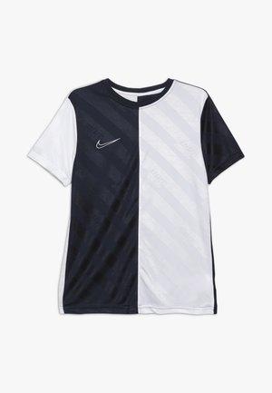 DRY - T-shirt print - obsidian/white