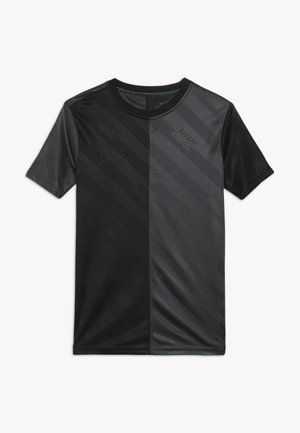 DRY - T-shirt imprimé - black/anthracite