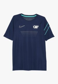 Nike Performance - CR7 DRY - T-shirt con stampa - blue void/hyper jade/silver - 0