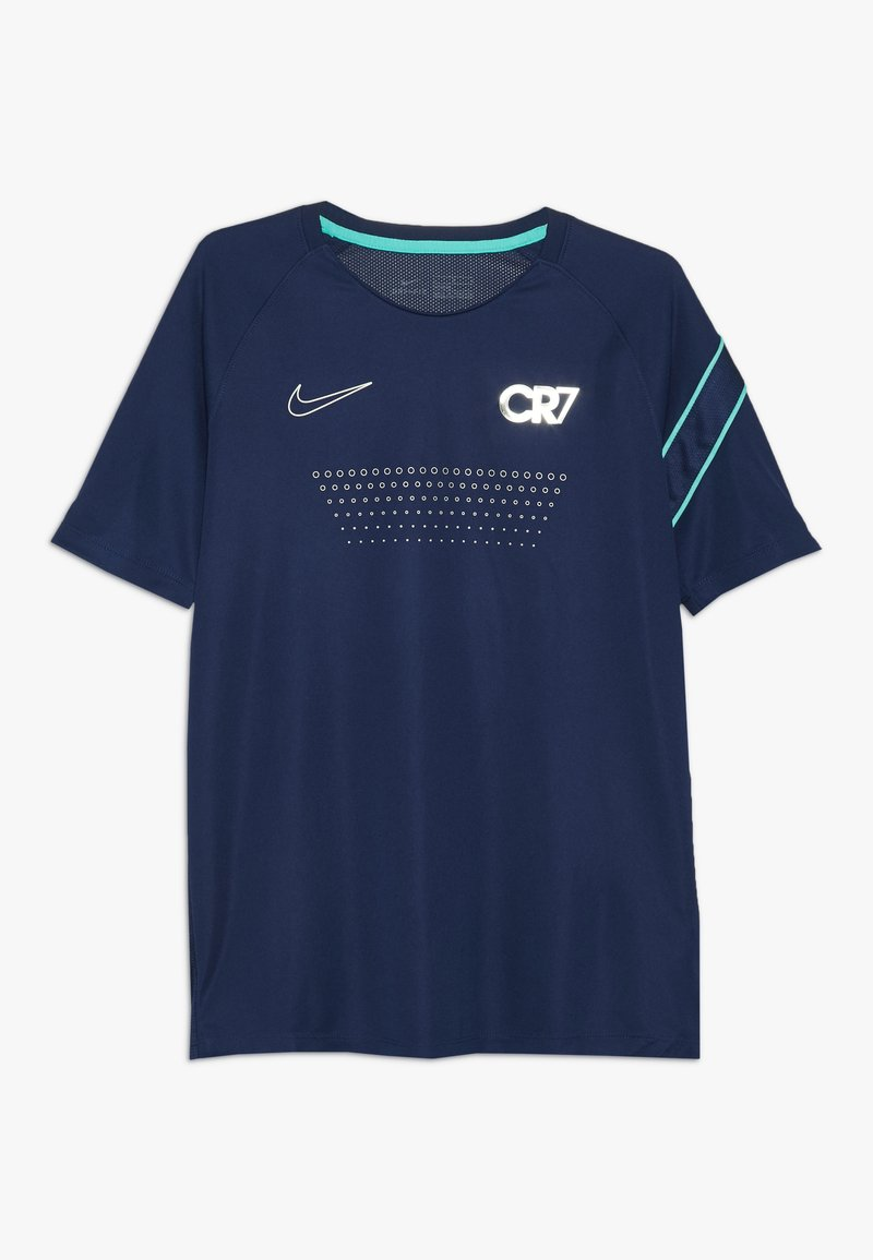 Nike Performance - CR7 DRY - T-shirt con stampa - blue void/hyper jade/silver