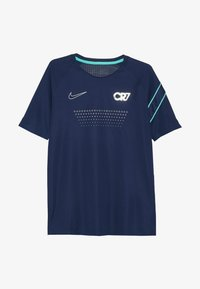 Nike Performance - CR7 DRY - T-shirt con stampa - blue void/hyper jade/silver - 2