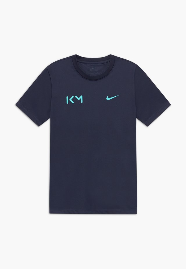 KYLIAN MBAPPE - T-shirts print - obsidian/aurora green