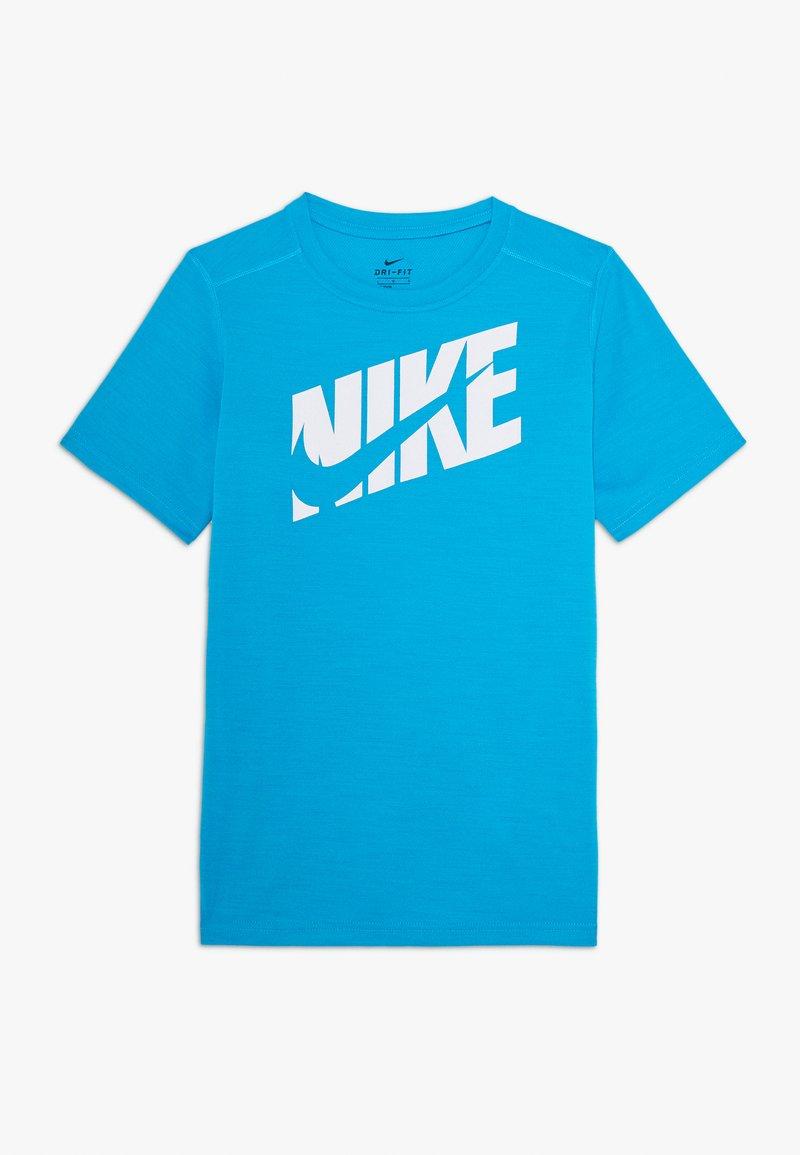 Nike Performance - Print T-shirt - laser blue/white