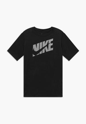 T-shirt imprimé - black/light smoke grey