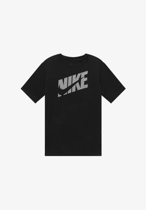 T-shirt print - black/light smoke grey