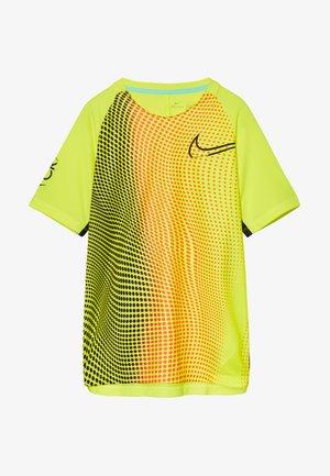 DRY  - T-shirt print - lemon/black