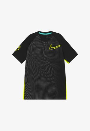 DRY  - Print T-shirt - black/lemon